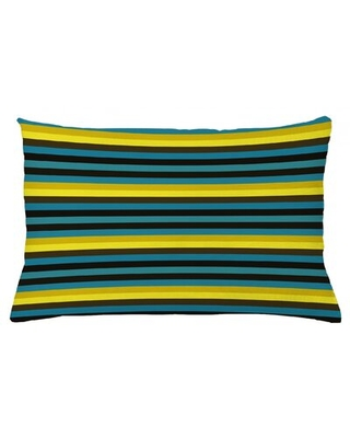 "Indoor / Outdoor Striped Lumbar Pillow Cover East Urban Home Size: 16"" x 26"""