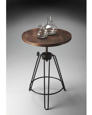 Handmade Metalworks End Table (India) (Multi-Color)