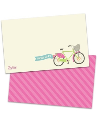 Personalized Vintage Bicycle Note Cards