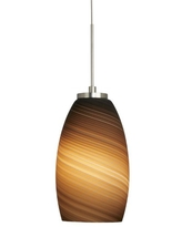 Stone Lighting PD129BUPNX2M Pendant Polished Nickel Finish with Blown Sphere and Patterned Bubbles Shades