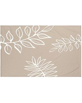 """e by design My Best Frond Floral Print Throw Blanket HFN190 Size: 60"""" L x 50"""" W, Color: Flax (Taupe/Off White)"""