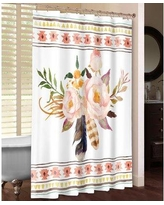 LauralHome Tribal Flowers Shower Curtain TRIF74SC