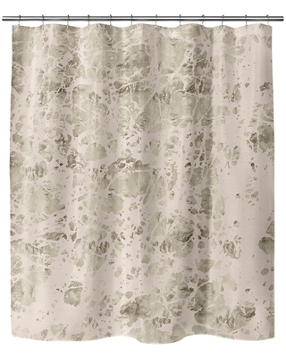 MARBLE PINK SMALL Shower Curtain by Kavka Designs (71X74)