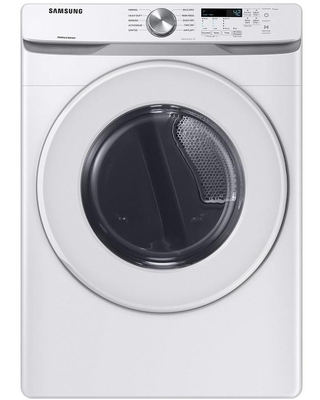 Samsung 7.5-cu ft Reversible Side Swing Door Stackable Gas Dryer (White) | DVG45T6000W