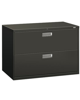 600 Series 2-Drawer Lateral Filing Cabinet HON Color: Charcoal