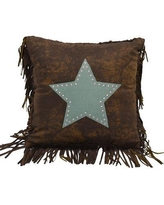 Loon Peak Cooley Faux Leather Throw Pillow LNPK5767 Color: Turquoise