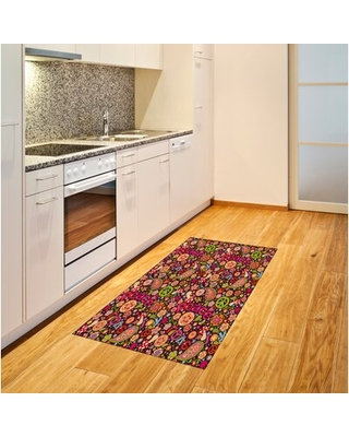 """70S Party Pink Area Rug East Urban Home Rug Size: Rectangle 4' x 5'8"""""""