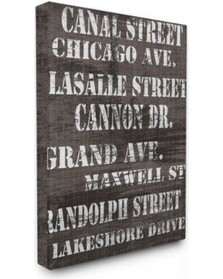 """Stupell Industries 'Canal Street Distressed Chicago Streets' Textual Art cw-1233_cn_0 Size: 30"""" H x 24"""" W Format: Canvas"""