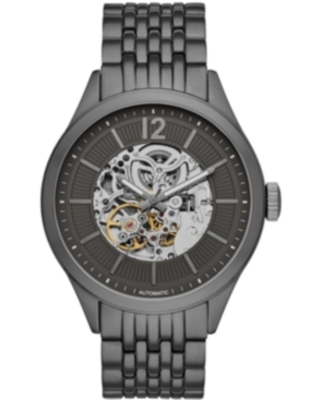 Folio Mens Gunmetal Bracelet Automatic Watch 46mm