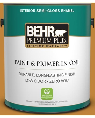 BEHR Premium Plus 1 gal. #M260-7 Back to School Semi-Gloss Enamel Low Odor Interior Paint and Primer in One