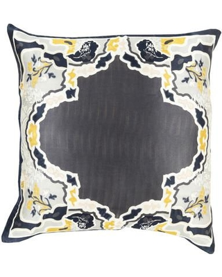 "Bloomsbury Market Knowland Silk Throw Pillow BBMT2346 Size: 18"" H x 18"" W x 4"" D Color: Forest Fill Material: Polyester"