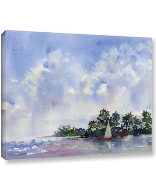 "Breakwater Bay 'Leward The Island' Painting Print on Wrapped Canvas BKWT2920 Size: 18"" H x 24"" W x 2"" D"