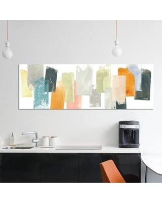 """East Urban Home 'Touchstone II' Graphic Art Print on Wrapped Canvas ERBS7006 Size: 16"""" H x 48"""" W x 0.75"""" D"""