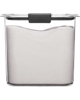Rubbermaid Brilliance Pantry Airtight Food Storage Container, BPA-Free Plastic, Sugar (12 Cup), Clear, 1994227