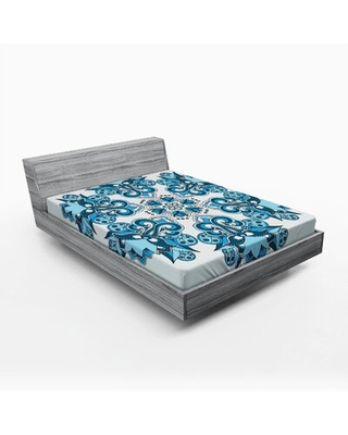 Mandala Floral / Flower Fitted Sheet East Urban Home Size: Full