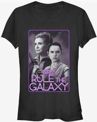 Star Wars Leia and Rey Rule the Galaxy Girls T-Shirt