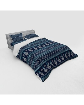 Nordic Duvet Cover Set East Urban Home Size: Queen Duvet Cover + 3 Additional Pieces