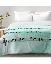 East Urban Home Musical Nature Comforter Set EAHU7492 Size: King