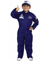 Flight Suit with Cap Child Halloween Costume