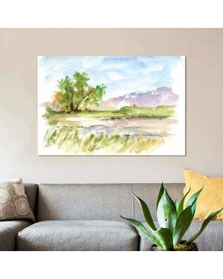 "East Urban Home 'Vibrant Watercolor II' Watercolor Painting Print on Canvas EBHS2520 Size: 26"" H x 40"" W x 0.75"" D"