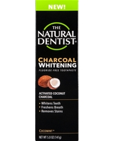 The Natural Dentist Charcoal Whitening Toothpaste Cocomint - 5oz