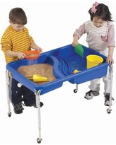 """Children's Factory Neptune Rectangle Sand & Water Table 1136-18 / 1136-24 Size: 18"""" H x 36"""" W x 24"""" D"""