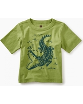 Tea Collection Alligator Graphic Baby Tee