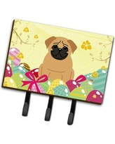 The Holiday Aisle Easter Eggs Contemporary Pug Leash or Key Holder THLA3660 Color: Brown