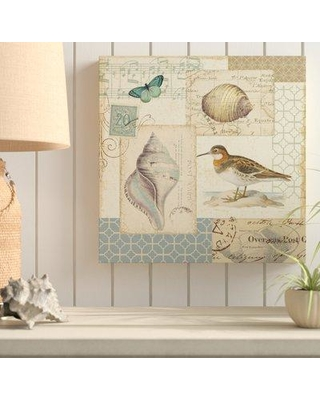 """Highland Dunes 'Coastal Collage II' Graphic Art Print on Wrapped Canvas HIDN7344 Size: 18"""" H x 18"""" W x 2"""" D"""