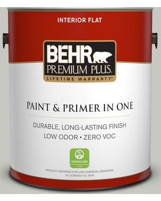 BEHR Premium Plus 1 gal. #ppf-29 Traditional Gray Flat Low Odor Interior Paint and Primer in One