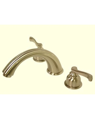 Elements of Design Double Handle Deck Mount Roman Tub Faucet Trim French Lever Handle ES836 Finish: Satin Nickel
