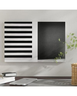 """East Urban Home 'Stripes and Shadows' Graphic Art Print on Canvas URHE1428 Size: 8"""" H x 12"""" W x 0.75"""" D"""