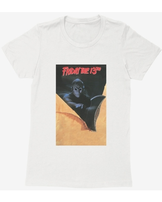 Friday The 13th Poster Womens T-Shirt