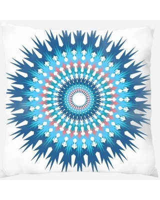 Mandala Throw Pillow Rug Tycoon Color: Blue