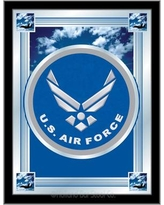 Holland Bar Stool US Armed Forces Logo Mirror Framed Graphic Art MLogo Branch: Air Force