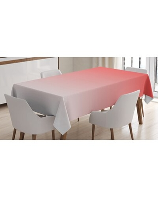 """African Tropic Sun Rise Morning Exotic Day Tablecloth East Urban Home Size: 90"""" L x 60"""" W, Color: Red"""