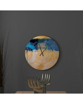 East Urban Home Oversized Mcmurtry Wall Clock W001820106 Size: Small