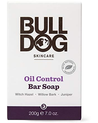 Bulldog Mens Skincare and Grooming Oil Control Moisturizing and Exfoliating Bar Soap, 7 ounce