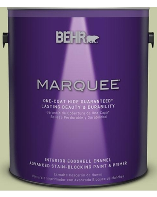 BEHR MARQUEE 1 gal. #M350-3 Sap Green One-Coat Hide Eggshell Enamel Interior Paint and Primer in One