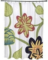 Red Barrel Studio Anurima Tropical Floral Print Shower Curtain RDBS2882 Color: Navy Blue