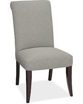 PB Comfort Roll Arm Upholstered Dining Side Chair, Premium Performance Basketweave Light Gray