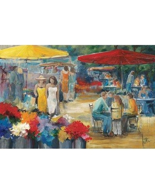 """East Urban Home 'Summer Market I' Graphic Art Print on Canvas ESUI0134 Size: 18"""" H x 26"""" W x 1.5"""" D"""