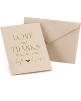 """50ct """"from the new Mr. and Mrs."""" Thank You Card Pack, Shopping Bag Brown"""