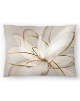 """East Urban Home PI Creative Art Transparent Beauty III Lumbar Pillow, Polyester/Polyfill/Synthetic in Beige/Ivory/Cream, Size 14""""H x 20""""W   Wayfair"""