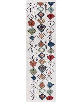 "Bloomsbury Market Hervey White Area Rug BLMS3035 Rug Size: Runner 2'3"" x 7'2"""