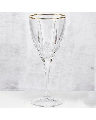 Lorren Home Trends Crystal Stemmed Wine Glass 262300 Color: Clear Capacity: 8 oz.