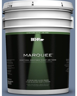 BEHR MARQUEE 5 gal. #580F-5 Mysteria Semi-Gloss Enamel Exterior Paint and Primer in One