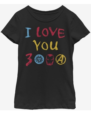 Marvel Avengers: Endgame Love Hand Drawn Youth Girls T-Shirt