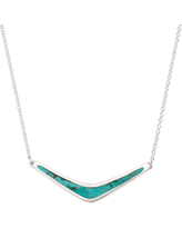 Silpada 'Reversible Boomerang' Compressed Turquoise Necklace in Sterling Silver