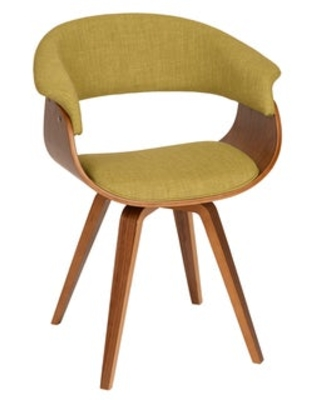 Carson Carrington Vamdrup Modern Dining Chair In Charcoal (Green/Brown - Wood Finish - Upholstered)